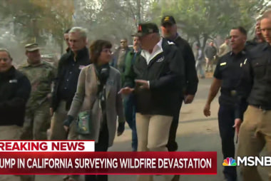 Trump: 'We want to take care' of California wildfire victims