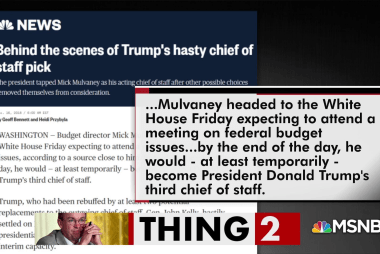 Mulvaney picks the short straw, gets chief of staff job