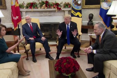 Ezra Klein: Oval Office circus proves Trump 'doesn't want the wall'