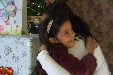 Young girl reunited with family: The long trip here was worth it