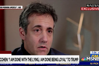 Cohen sends a message to Trump