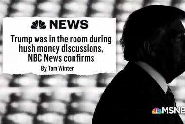 'Hits just keep coming':  NBC News confirms Trump was present for hush money talks
