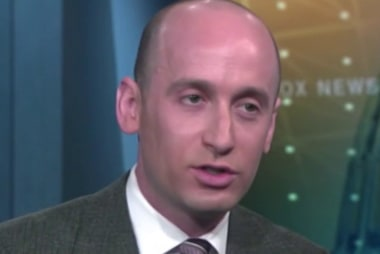 Stephen Miller says there's a wall underway that doesn't exist