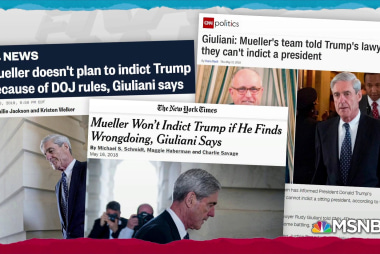 Trump camp maybe too insistent presidents can't be indicted