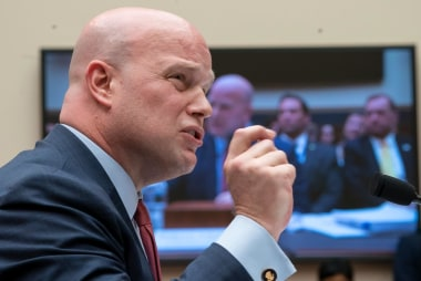 Can executive privilege apply to Whitaker's talks with Trump?