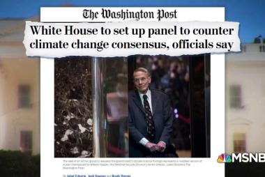 Trump White House plans climate change pushback