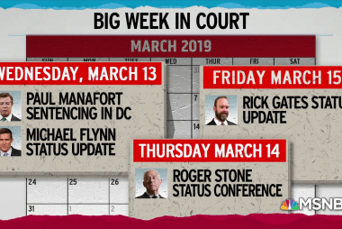 Crowded calendar shows consequential week ahead for Mueller cases