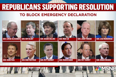 Rebuke from within: 12 GOP block Trump's emergency declaration