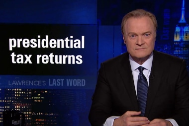 Lawrence's Last Word: presidential tax returns