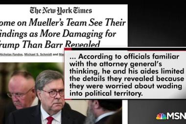 NYT: Mueller team thinks Barr downplayed Trump findings