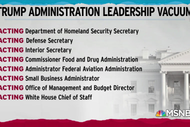 Trump consolidates power with staff of 'acting' officials