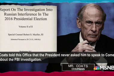 Mueller report raises questions about Trump's intel chief