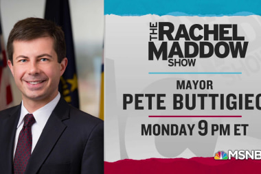 Mayor Pete Buttigieg to join Rachel Maddow in-studio Monday 4/15