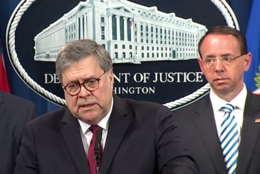 Barr says 10 'episodes' of Trump potential obstruction probed, AG disagreed on Mueller legal theory
