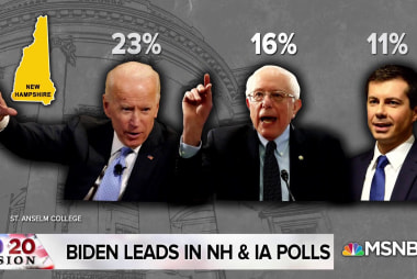 Bernie polls in second place in Iowa and New Hampshire