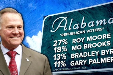 Roy Moore leading GOP Alabama Senate field in poll