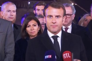 Macron: 'It is our common history, and it is burning.'