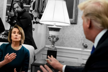 After saying he never lost his temper, Trump rages at 'Crazy Nancy'