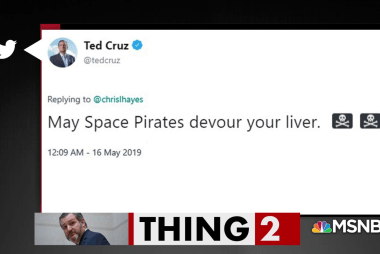 Ted Cruz to Chris Hayes: 'May Space Pirates devour your liver'