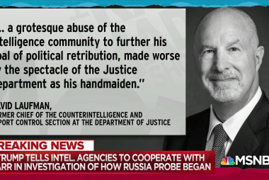 New Trump order 'a grotesque abuse': fmr DOJ counterintel chief