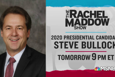 Gov. Steve Bullock to talk with Rachel Maddow Wednesday 5/15
