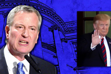 "WATCH: Mayor Bill De Blasio's announcement draws ""colorful"" responses from New Yorkers"