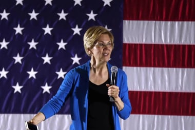 Should a sitting president be above the law? Elizabeth Warren doesn't think so.