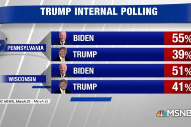 Trump's early internal polling shows him behind Biden in battleground states