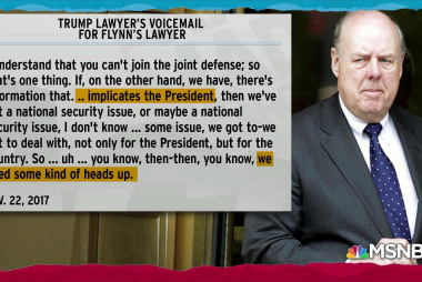 Trump lawyer call to Flynn highlights Trump obstruction case
