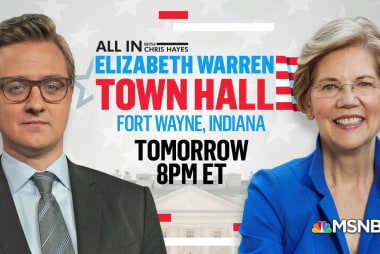 Chris Hayes hosts Elizabeth Warren town hall Wednesday at 8pm ET