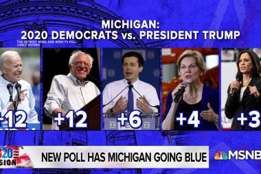 Head-to-head matchups in Michigan show five Democrats top Trump