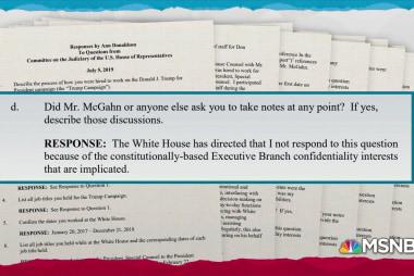 McGahn aide extends pattern of Trump admin stonewalling Congress