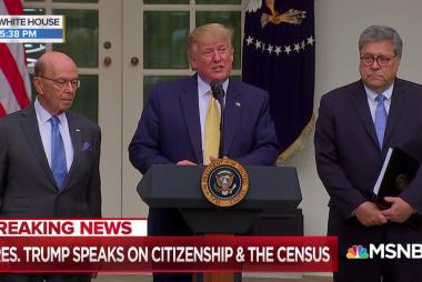 President Trump announces citizenship plan after losing census court battle