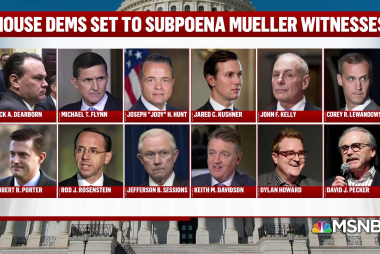 House Democrats subpoena some of the biggest names in the Mueller report