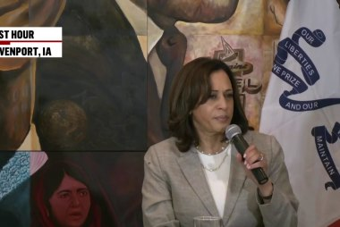 Kamala Harris 'drops the mic' on Trump: 'He needs to go back to where he came from'