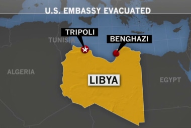 US evacuates staff from embassy in Libya