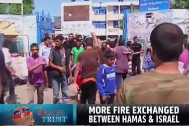More fire exchanged between Hamas & Israel
