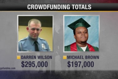 Supporters for Darren Wilson crowd-funding