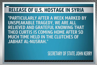 American hostage freed in Syria