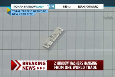 Workers stuck hanging from One World Trade