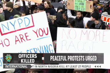 Should protests end after NYPD killings?