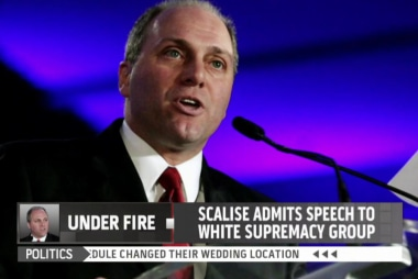 Scalise: 'It was a mistake I regret'