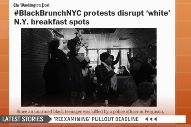 #Blackbrunch demonstrations spark backlash
