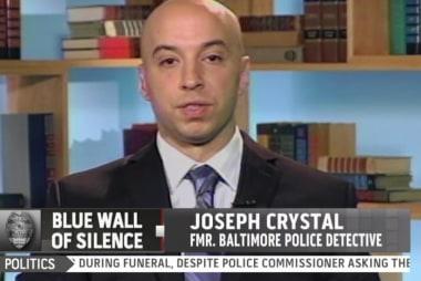 Fmr. Baltimore cop speaks on intimidation