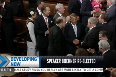 Boehner re-elected House speaker