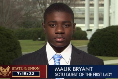 Youngest State of the Union guest