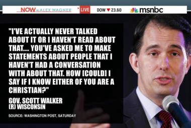 Is Scott Walker running to the right?