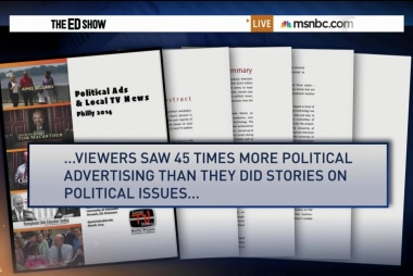 Political ads dominate the airwaves