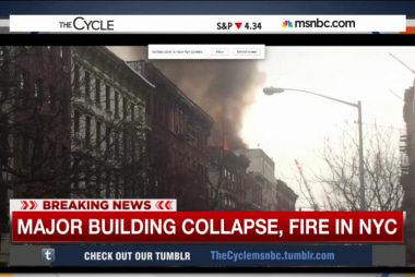 Reports of building collapse, fire in NYC
