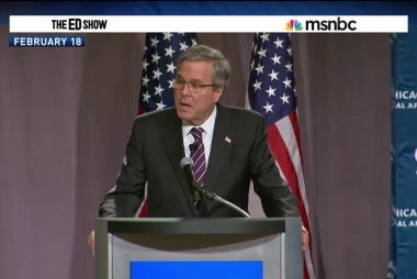 Jeb checks 'Hispanic' box on voting form